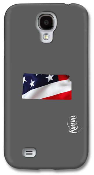 States Galaxy S4 Cases - Kansas State Map Collection Galaxy S4 Case by Marvin Blaine