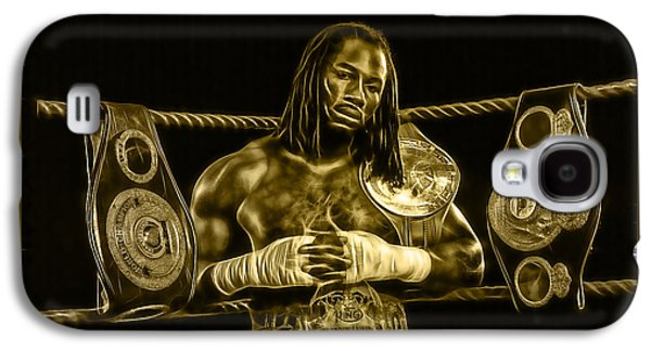 Boxer Galaxy S4 Cases - Lennox Lewis Collection Galaxy S4 Case by Marvin Blaine