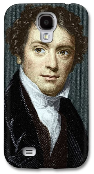 Michael Photographs Galaxy S4 Cases - Michael Faraday, British Physicist Galaxy S4 Case by Sheila Terry