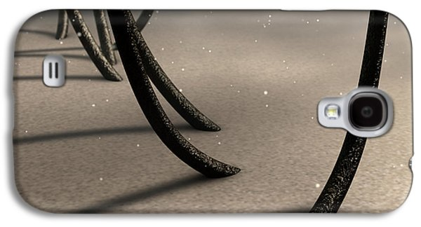 Microscopic Hair Fibers Galaxy S4 Case by Allan Swart