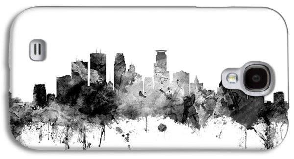 Minnesota Galaxy S4 Cases - Minneapolis Minnesota Skyline Galaxy S4 Case by Michael Tompsett