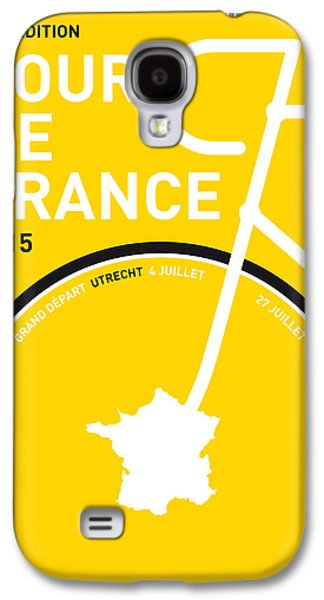 Champion Digital Art Galaxy S4 Cases - My Tour De France Minimal Poster Galaxy S4 Case by Chungkong Art