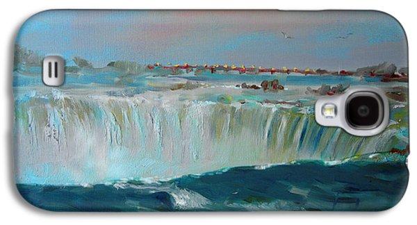 Waterfalls Paintings Galaxy S4 Cases - Niagara falls Galaxy S4 Case by Ylli Haruni