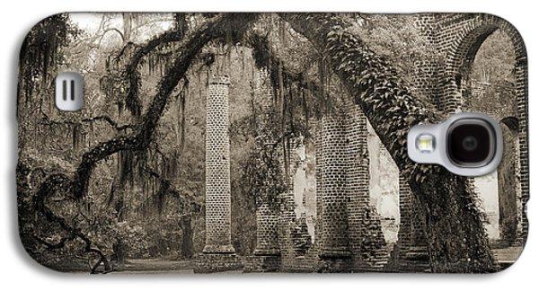 Live Oaks Galaxy S4 Cases - Old Sheldon Church Ruins Galaxy S4 Case by Dustin K Ryan
