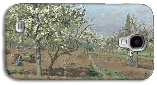 Orchard In Bloom Galaxy S4 Case by Camille Pissarro