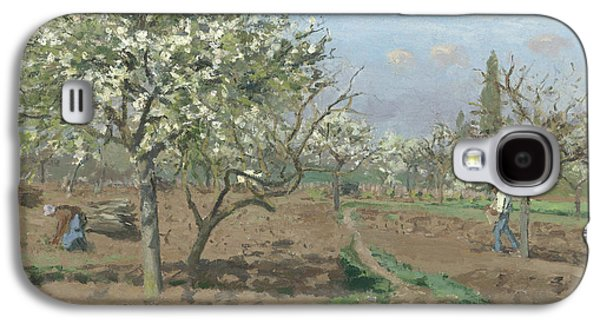 Rural Art Galaxy S4 Cases - Orchard in Bloom Galaxy S4 Case by Camille Pissarro
