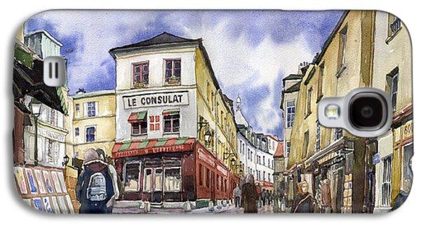 Watercolour Galaxy S4 Cases - Paris Montmartre  Galaxy S4 Case by Yuriy  Shevchuk