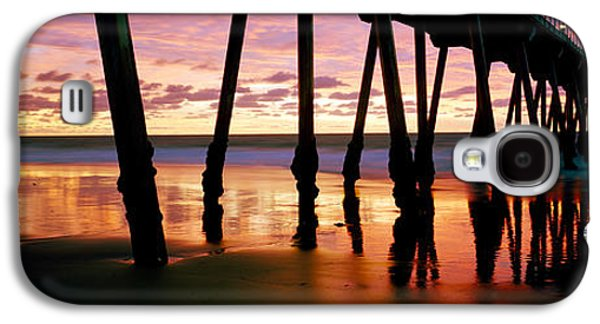 Pier In The Pacific Ocean, Hermosa Galaxy S4 Case by Panoramic Images