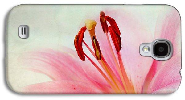 Retro Antique Galaxy S4 Cases - Pink Lily Galaxy S4 Case by Nailia Schwarz