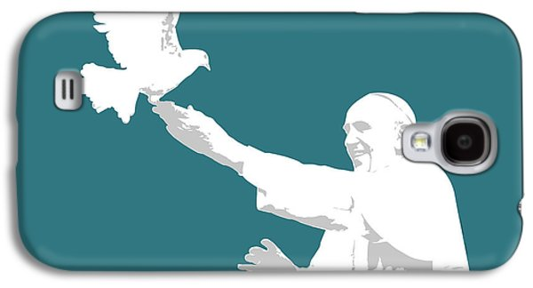 Pope Francis Galaxy S4 Case by Greg Joens