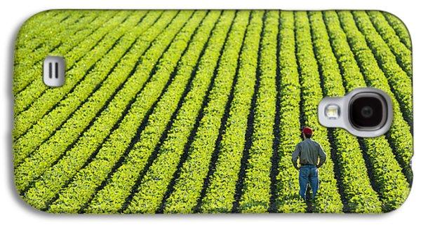 Man Looking Down Galaxy S4 Cases - Portrait Of A Farmer Walking Galaxy S4 Case by Scott Sinklier