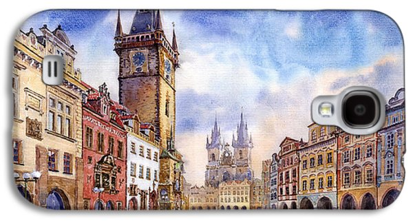 Town Paintings Galaxy S4 Cases - Prague Old Town Square Galaxy S4 Case by Yuriy  Shevchuk