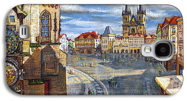 Architecture Pastels Galaxy S4 Cases - Prague Old Town Squere Galaxy S4 Case by Yuriy  Shevchuk