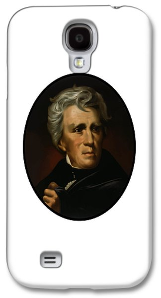 United States Paintings Galaxy S4 Cases - President Andrew Jackson  Galaxy S4 Case by War Is Hell Store
