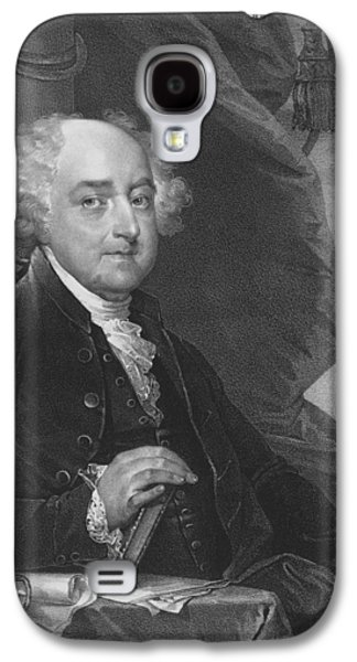 Independence Paintings Galaxy S4 Cases - President John Adams Galaxy S4 Case by War Is Hell Store