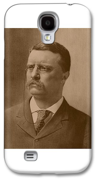 Army Mixed Media Galaxy S4 Cases - President Theodore Roosevelt Galaxy S4 Case by War Is Hell Store