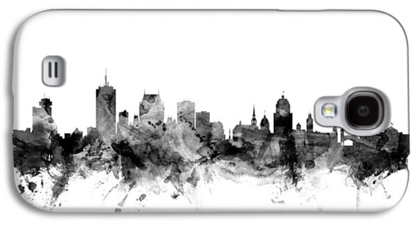 Quebec Galaxy S4 Cases - Quebec Canada Skyline Galaxy S4 Case by Michael Tompsett