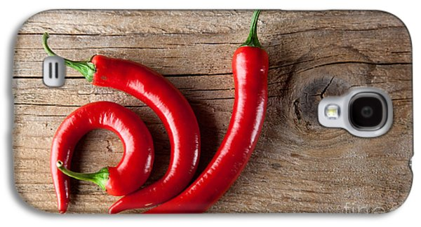 Fresh Green Galaxy S4 Cases - Red Chili Pepper Galaxy S4 Case by Nailia Schwarz