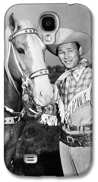 Celebrities Photographs Galaxy S4 Cases - Roy Rogers Galaxy S4 Case by Granger
