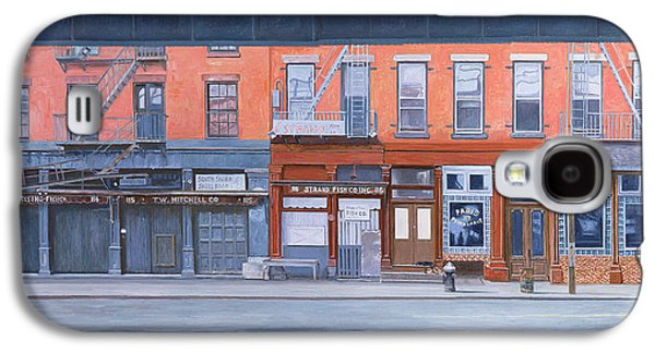 Store Fronts Paintings Galaxy S4 Cases - South Street Galaxy S4 Case by Anthony Butera