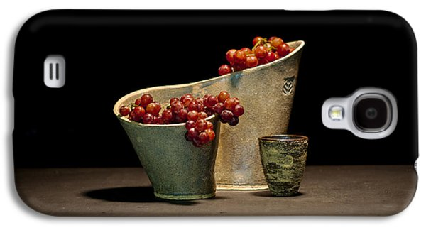 Still Life Ceramics Galaxy S4 Cases - Still Life with Grapes Galaxy S4 Case by William Sulit