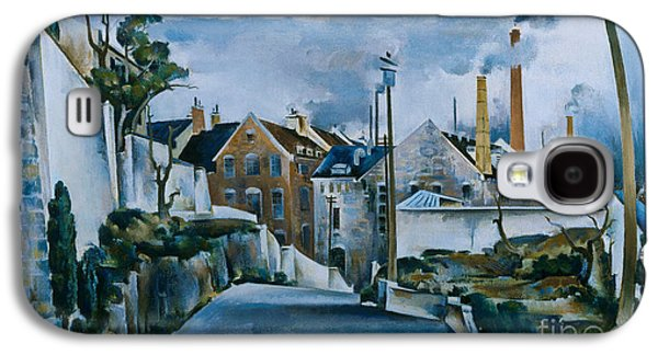 Quebec Streets Paintings Galaxy S4 Cases - Street in Quebec Galaxy S4 Case by Celestial Images