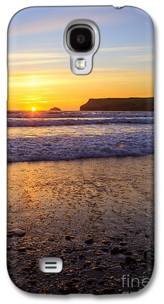 Sun Galaxy S4 Cases - Sunset At Polzeath Galaxy S4 Case by Amanda And Christopher Elwell