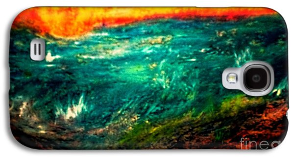 Sunset Abstract Pastels Galaxy S4 Cases - Sunset Galaxy S4 Case by Faith Riverstone Designs