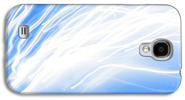 Swirly Galaxy S4 Cases - Swirly lines Galaxy S4 Case by Les Cunliffe