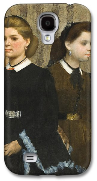 Three Quarter Length Galaxy S4 Cases - The Bellelli Sisters Galaxy S4 Case by Edgar Degas