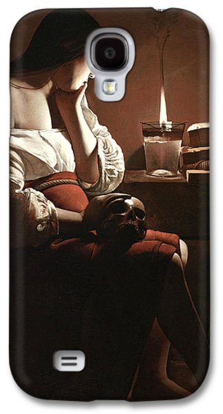 The Magdalen With The Smoking Flame Galaxy S4 Case by Georges de la Tour
