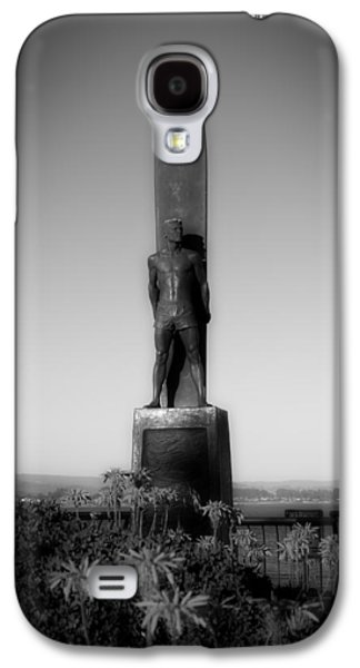 Santa Cruz Art Galaxy S4 Cases - The Monument - To Honor Surfing - Santa Cruz California Galaxy S4 Case by Mountain Dreams
