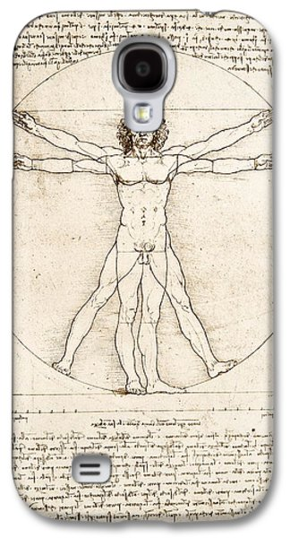 The Proportions Of The Human Figure Galaxy S4 Case by Leonardo Da Vinci