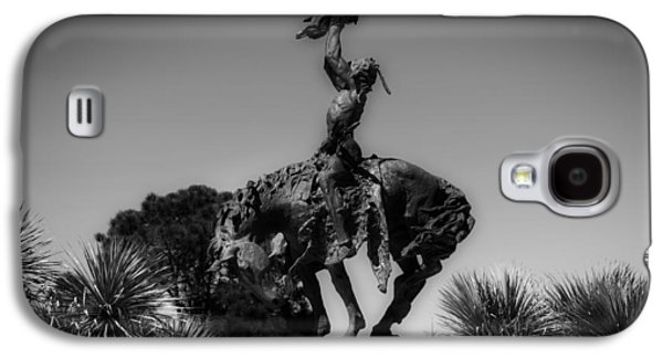 Black Sculptures Galaxy S4 Cases - The Sculpture INVOCATION - Orange Texas Galaxy S4 Case by Mountain Dreams