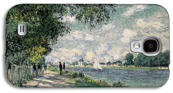 Pathway Paintings Galaxy S4 Cases - The Seine at Argenteuil Galaxy S4 Case by Claude Monet