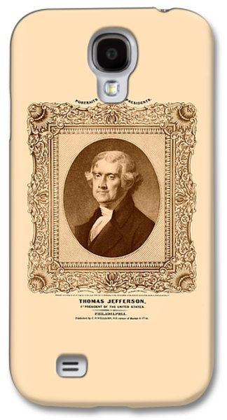 Declaration Of Independence Galaxy S4 Cases - Thomas Jefferson Galaxy S4 Case by War Is Hell Store