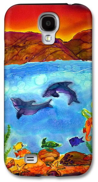 Dolphin Tapestries - Textiles Galaxy S4 Cases - Under the Sea Galaxy S4 Case by Beverly Johnson