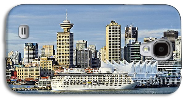 Business Galaxy S4 Cases - Vancouver skyline Galaxy S4 Case by John Greim