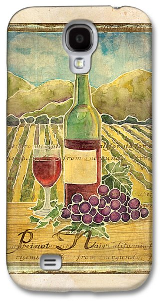 Vineyard Pinot Noir Grapes N Wine - Batik Style Galaxy S4 Case by Audrey Jeanne Roberts