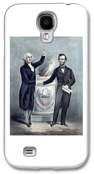 Revolutionary War Mixed Media Galaxy S4 Cases - Washington and Lincoln Galaxy S4 Case by War Is Hell Store