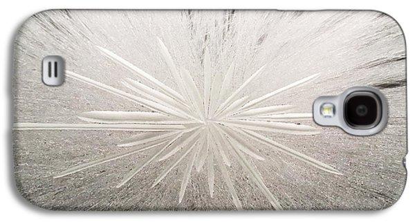 Original Art Glass Art Galaxy S4 Cases - White Spark Galaxy S4 Case by Robert Zeman