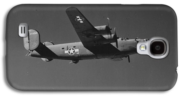 Airplane Photographs Galaxy S4 Cases - WWII US Aircraft In Flight Galaxy S4 Case by American School