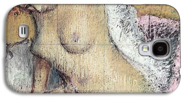 Nudes Pastels Galaxy S4 Cases - After the Bath Galaxy S4 Case by Edgar Degas