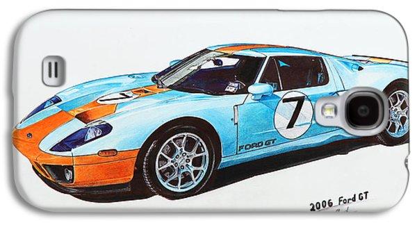 Transportation Ceramics Galaxy S4 Cases - 2006 Ford GT Galaxy S4 Case by Armine Arutyunyan
