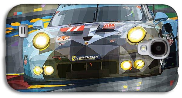 911 Galaxy S4 Cases - 2015 Le Mans GTE-Am Porsche 911 RSR Galaxy S4 Case by Yuriy Shevchuk