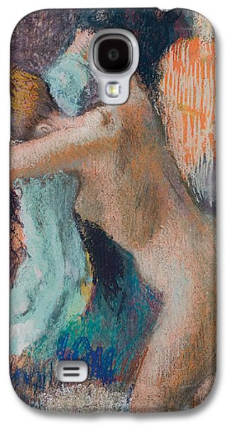 Fantasy Pastels Galaxy S4 Cases - After The Bath Galaxy S4 Case by Edgar Degas