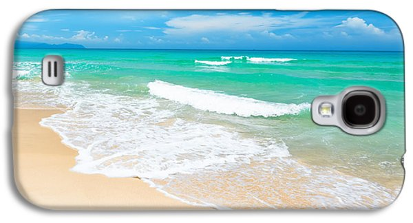 Beach Landscape Galaxy S4 Cases - Beach Galaxy S4 Case by MotHaiBaPhoto Prints