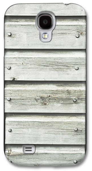 Outbuildings Galaxy S4 Cases - Wooden background Galaxy S4 Case by Tom Gowanlock