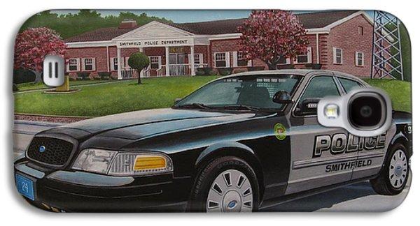 Police Cruiser Paintings Galaxy S4 Cases - 24spd Galaxy S4 Case by Robert VanNieuwenhuyze