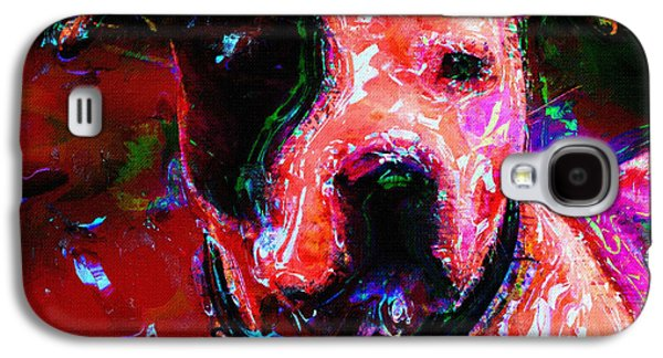 Dogs Digital Galaxy S4 Cases - Dog Portrait Art Print Galaxy S4 Case by Victor Gladkiy